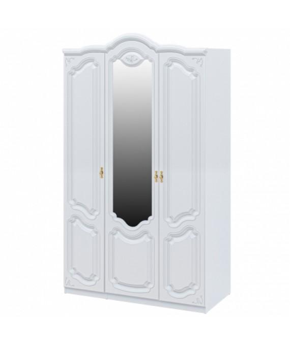 Шкаф для одежды Белый полуглянец Мебель Неман  (Орхидея) СП-002-13