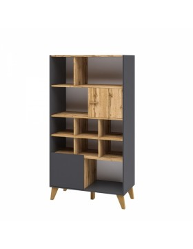 Шкаф комбинированный 2 Сканди Графит