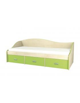 Кровать односпальная с ящиками  (Комби) МН-211-02