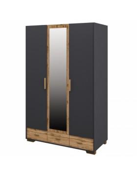 Шкаф для одежды 3 дверный Сканди Графит