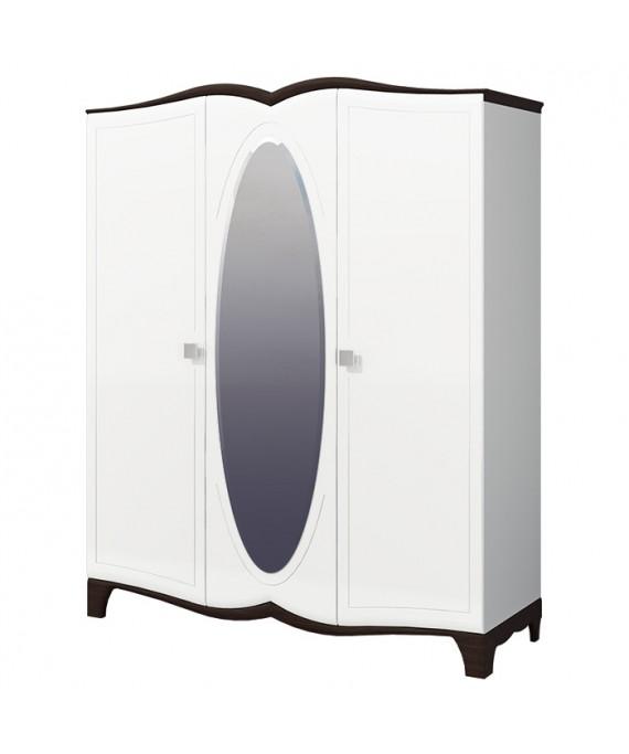 Шкаф для одежды с зеркалом (Тиффани) МН-122-04
