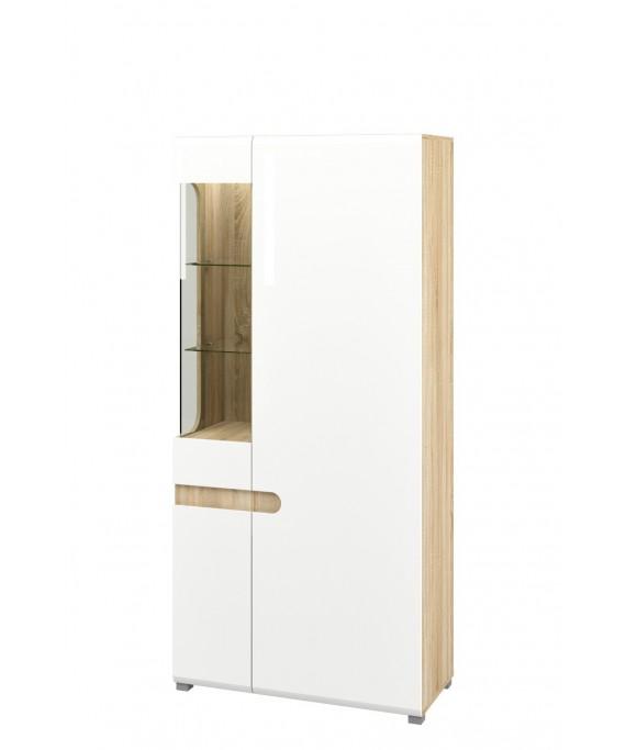 Шкаф с витриной (Леонардо) МН-026-19