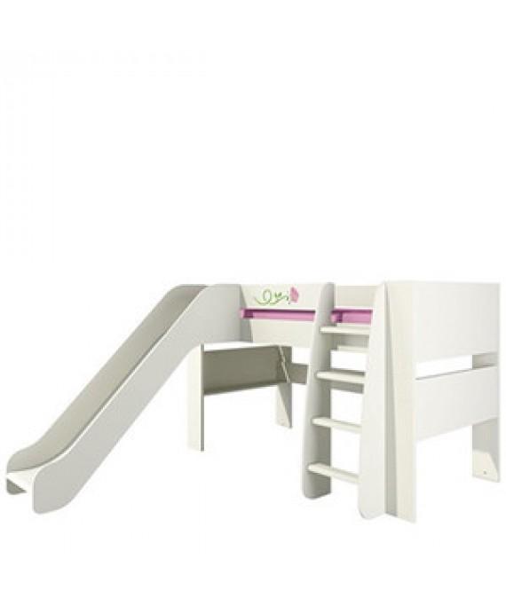 Кровать двухъярусная с горкой  (Розалия) КРД120-2Д1