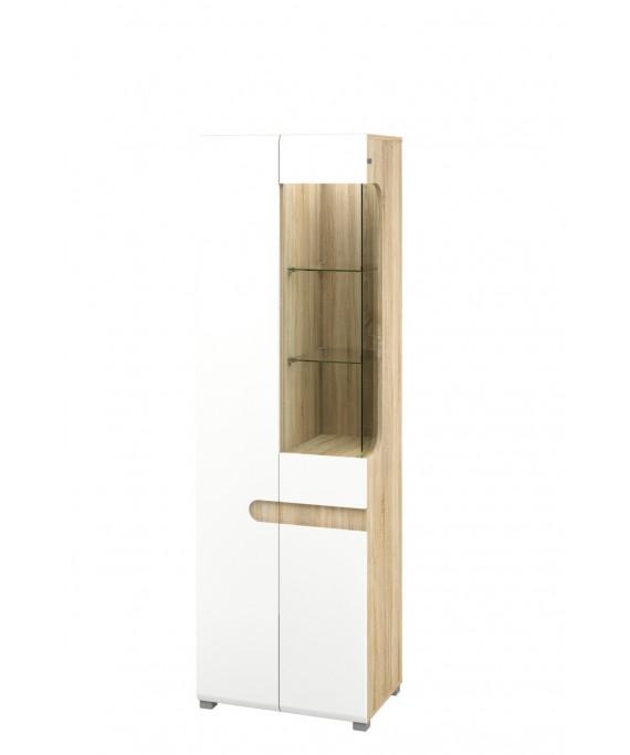 Шкаф с витриной   (Леонардо) МН-026-01/1