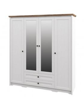 Шкаф с зеркалом для одежды (Тиволи) МН-035-24