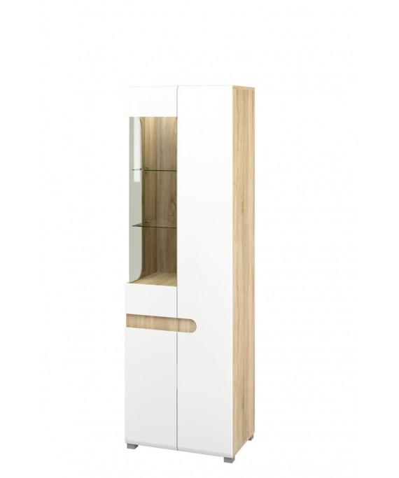 Шкаф с витриной   (Леонардо) МН-026-01