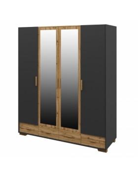 Шкаф для одежды 4 дверный Сканди Графит