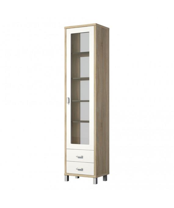 Шкаф с витриной (Домино Сонома) ВК-04-02