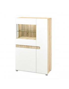 Шкаф с витриной (Леонардо) МН-026-03