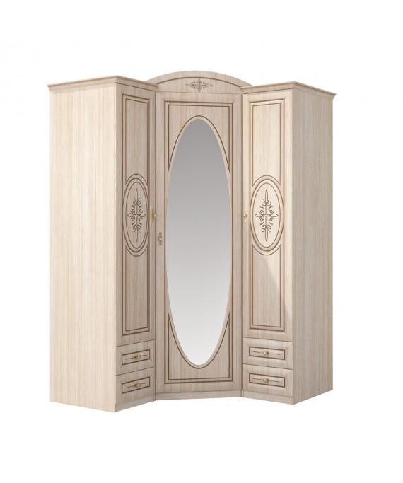 Шкаф угловой с зеркалом (Василиса) СП-001-09П